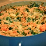 baked pasta with broccoli rabe and sweet potato