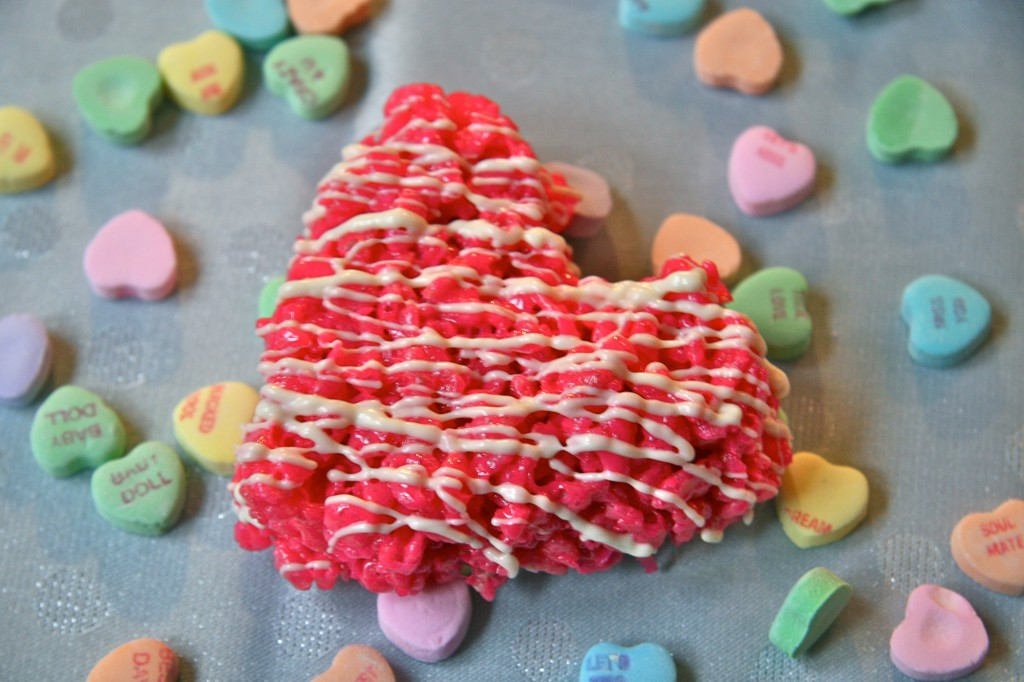 Valentine's Day Rice Krispie Treat Hearts