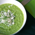 pea, fennel and leek soup