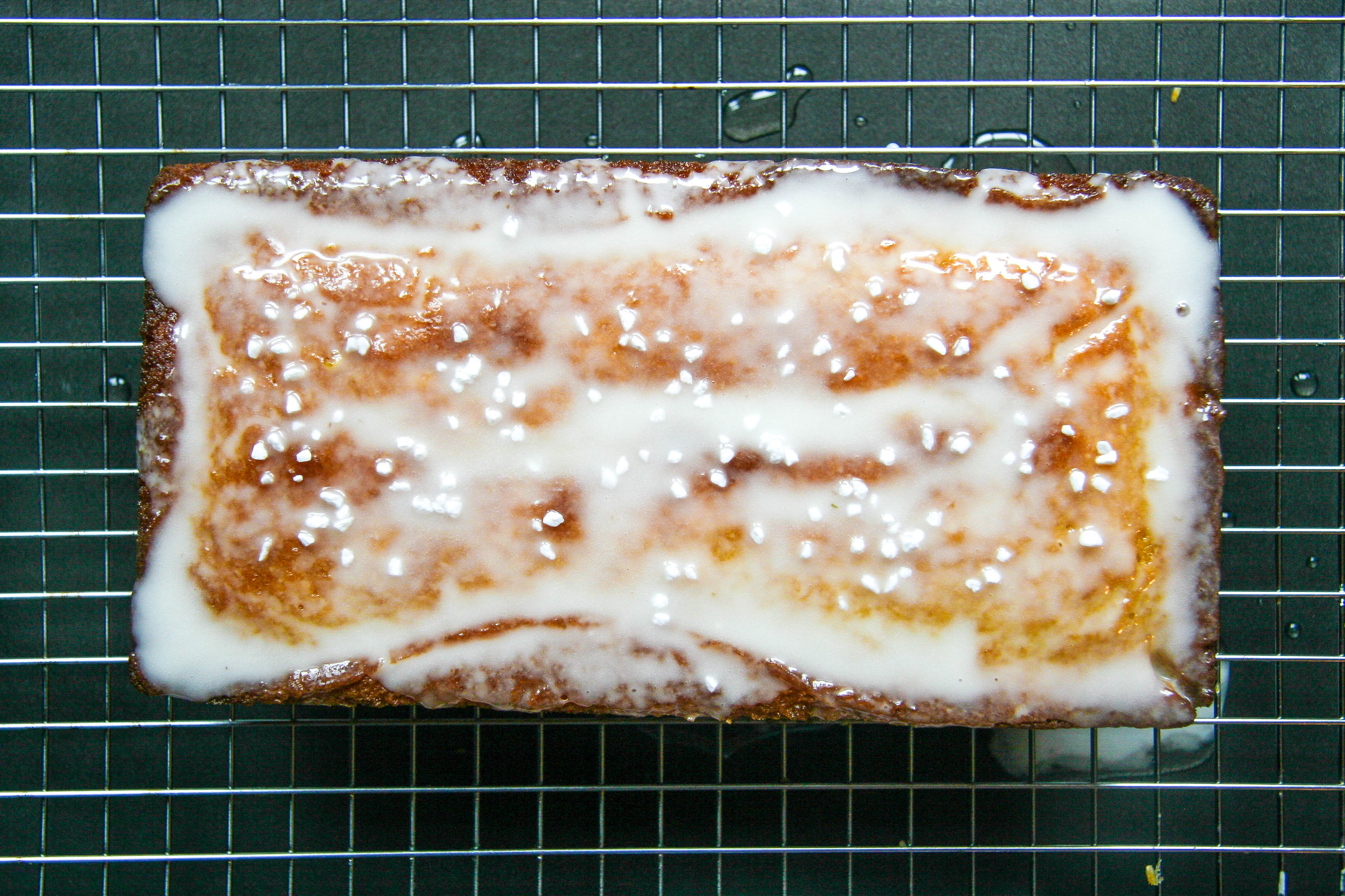 emon loaf with lavender glaze 5