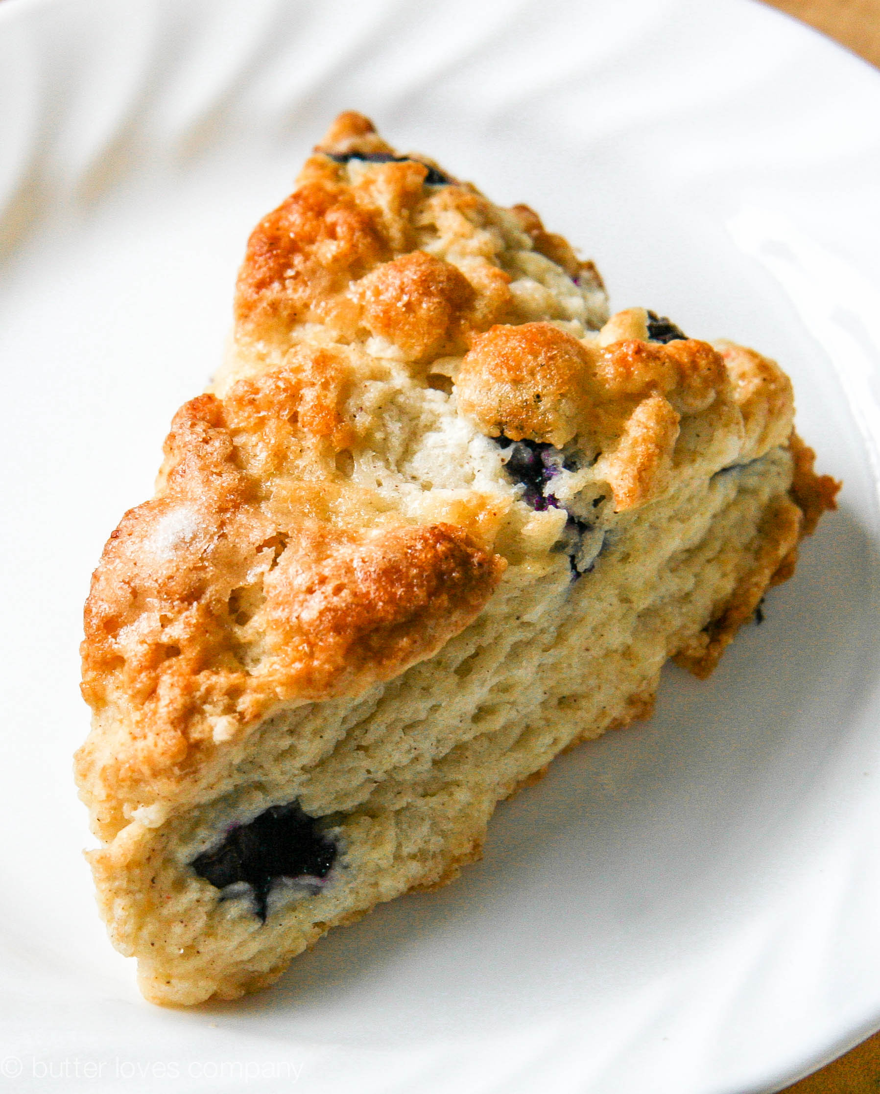 blueberry buttermilk scones with cinnamon sugar butter | butter loves ...