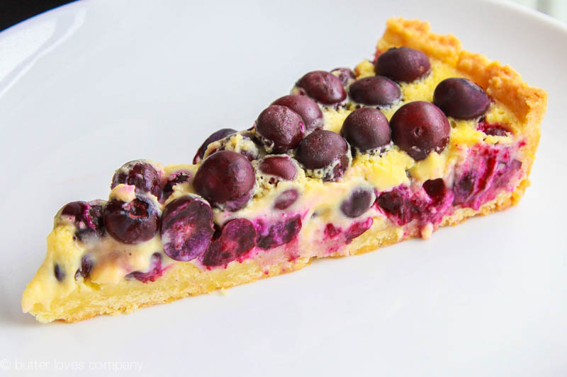 ... and light blueberry and lemon curd cream blueberry and cream tart