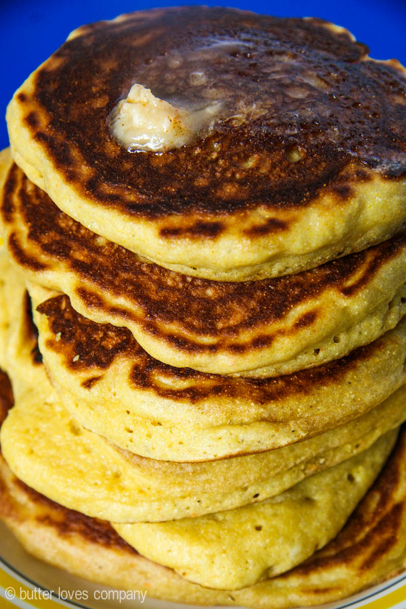 cornmeal pancakes with honey cayenne butter