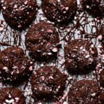 drizzled chocolate peppermint cookies