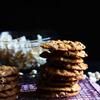Salty Buttery Popcorn Cookies