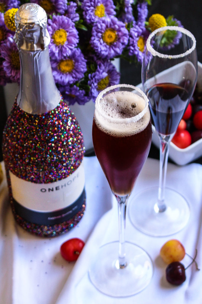 Cherry Cocktail Recipe with One Hope Wine