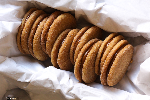 dolce de leche and cinnamon sandwich cookies