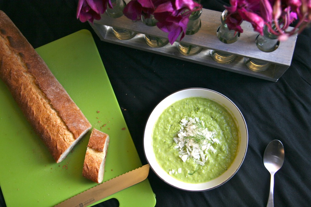 pea, fennel and leek soup recipe 1