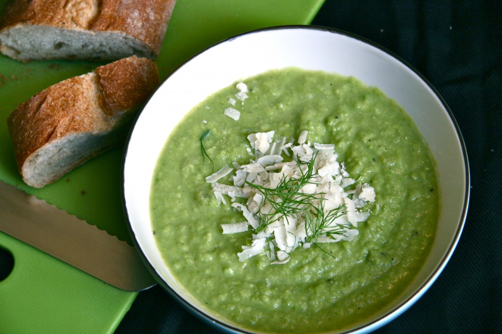 pea fennel leek soup 3