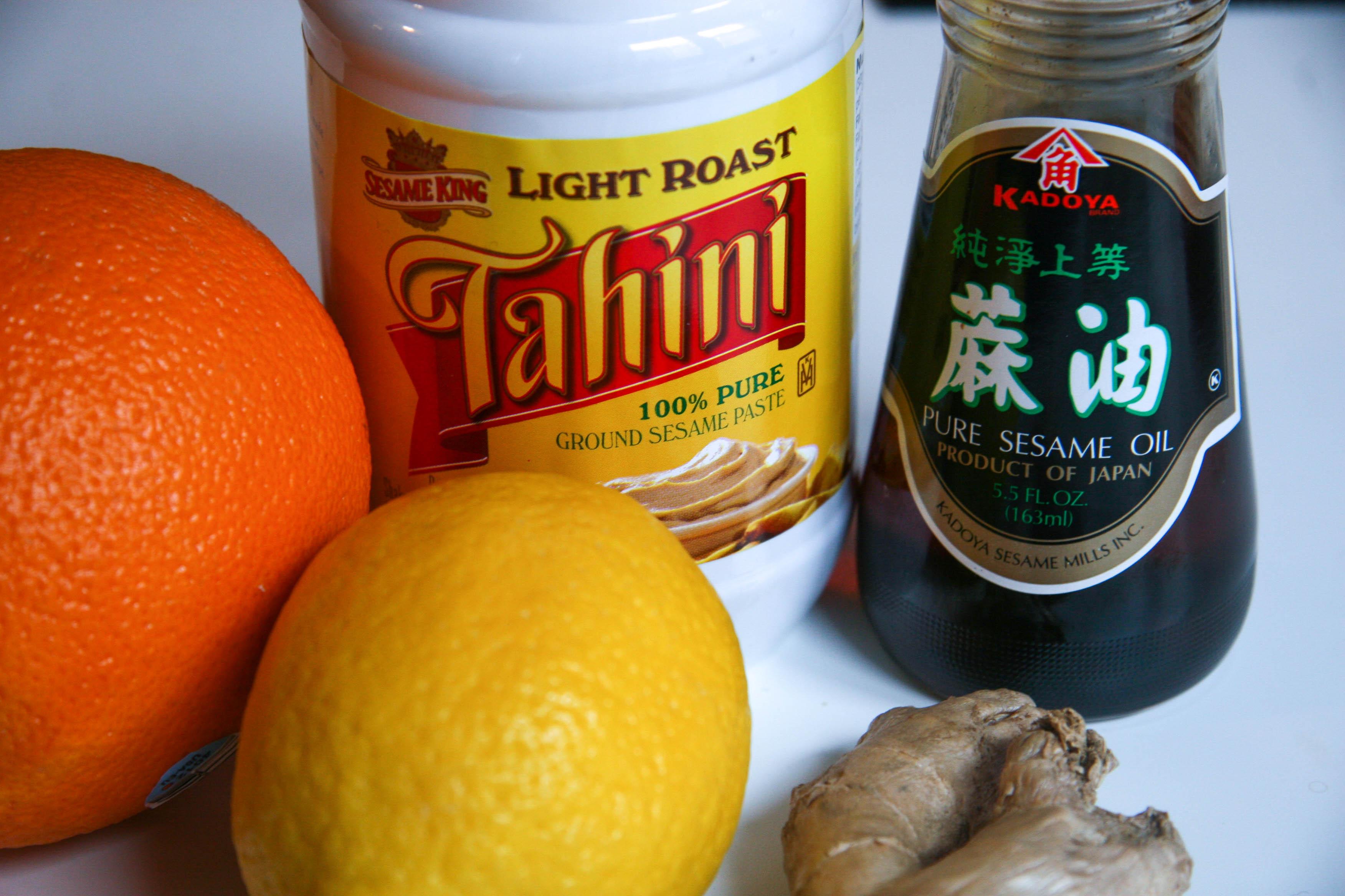 soba noodle salad tahini dressing ingredients