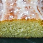 lemon loaf with lavender glaze
