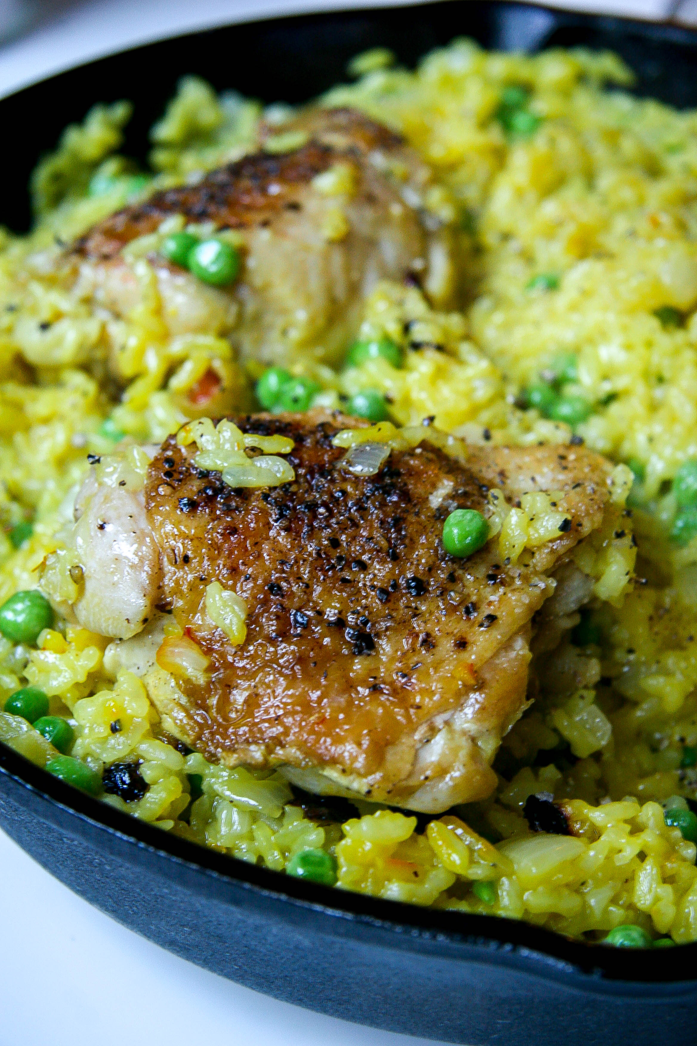one pot chicken and saffron rice 3