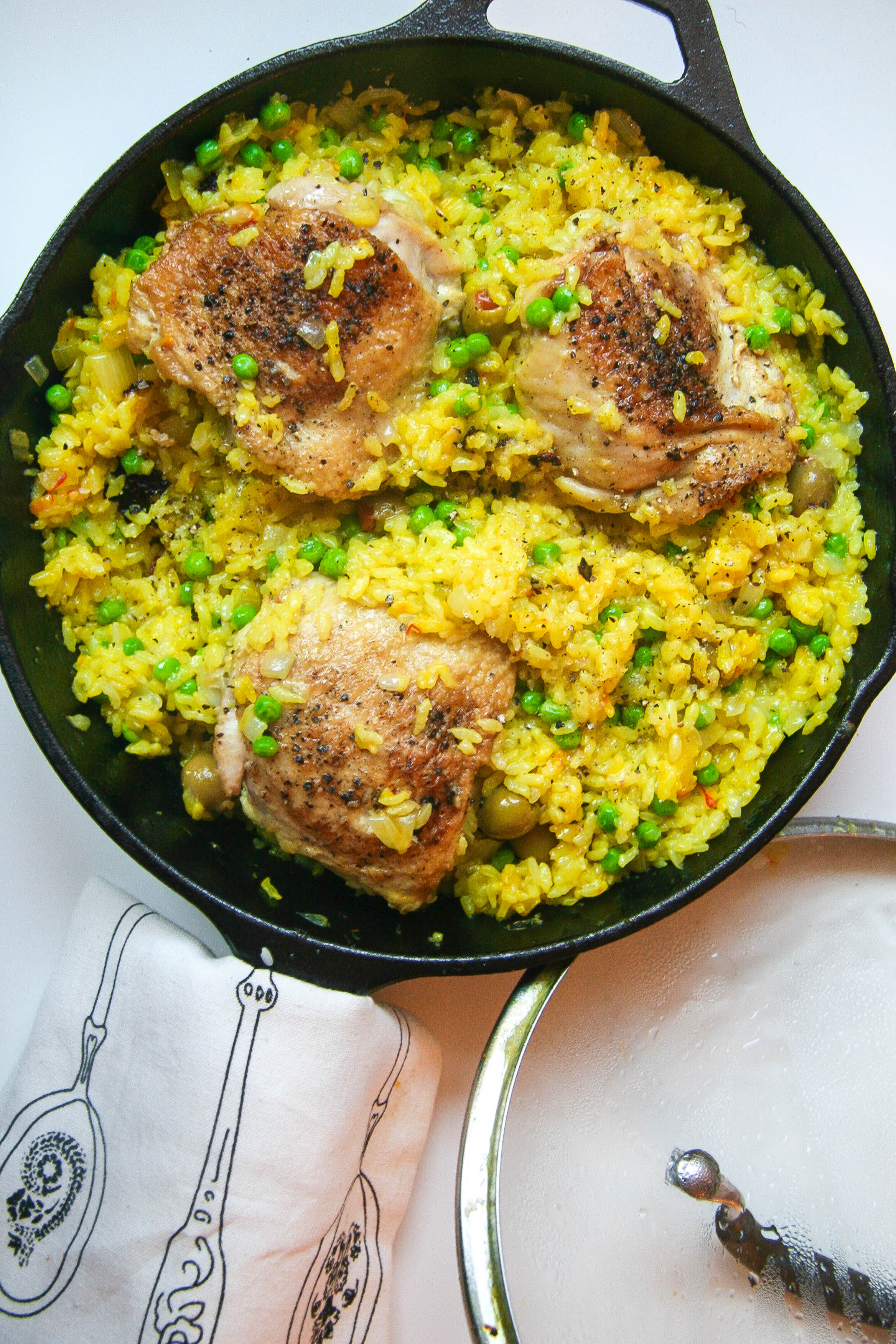 One Skillet Chicken And Saffron Rice Butter Loves Company