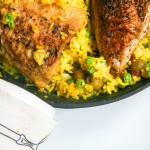 one skillet chicken and saffron rice