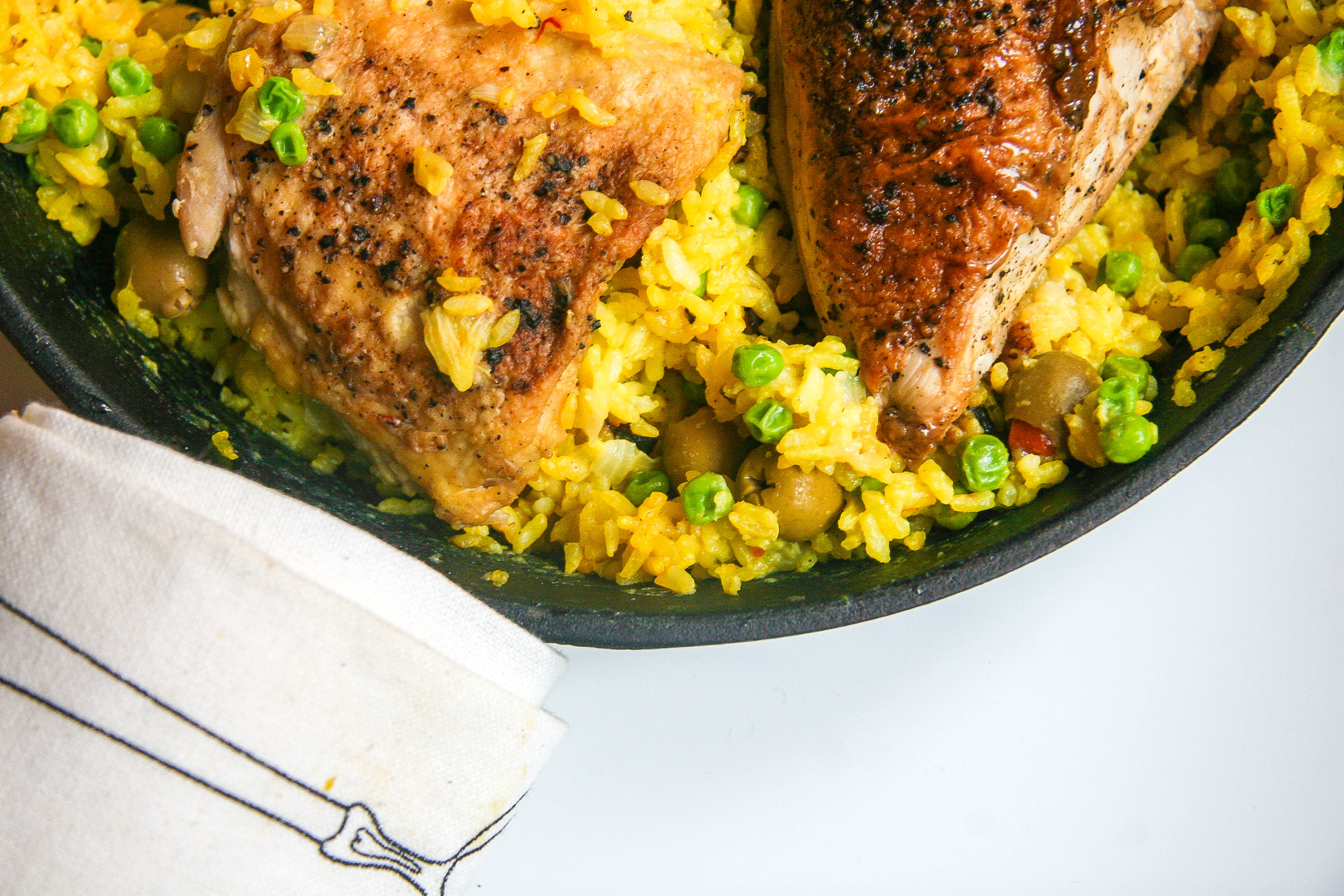 one pot chicken and saffron rice 7