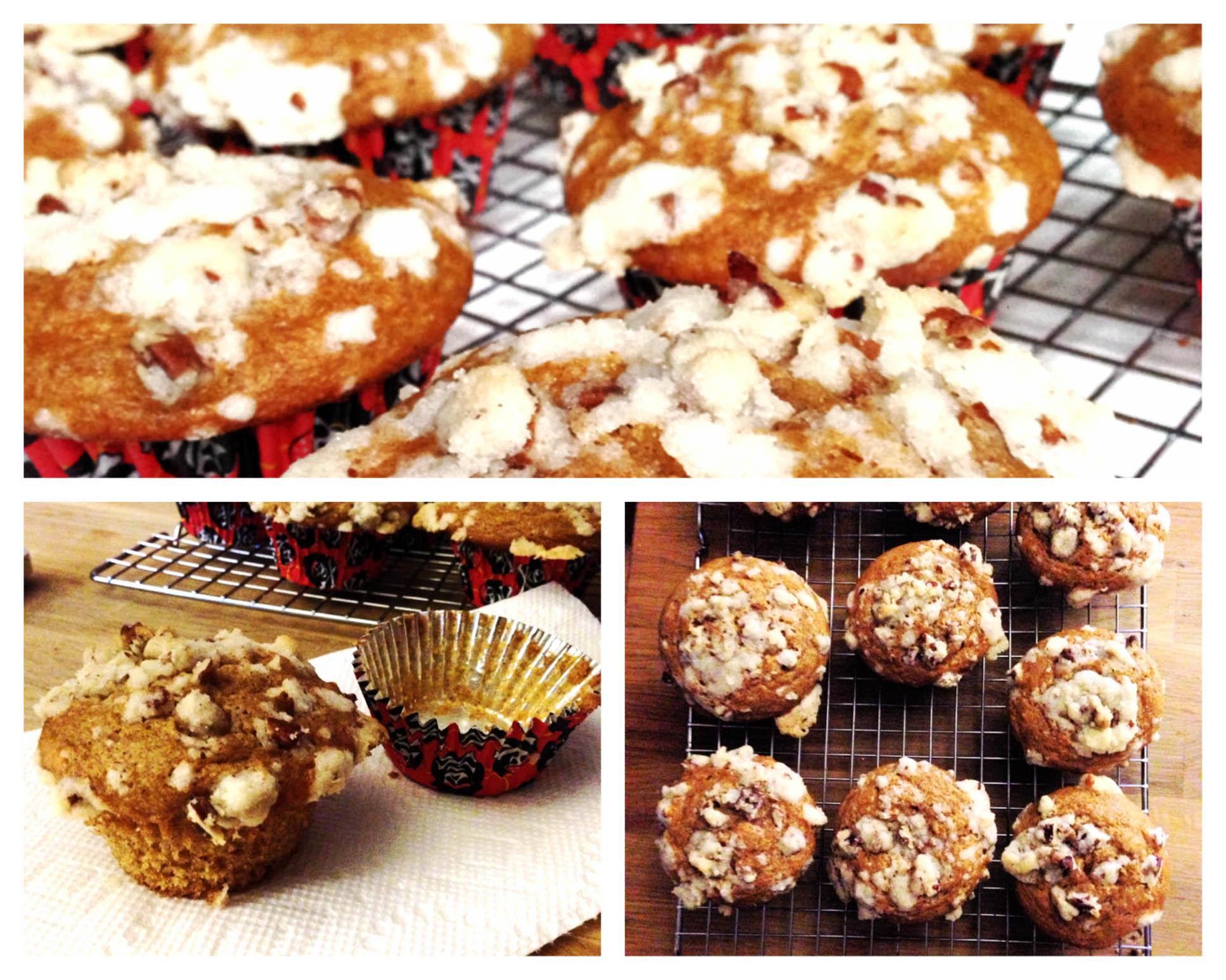 sweet potato streusel muffins 9