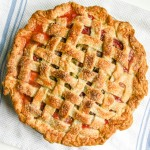 my favorite strawberry rhubarb pie