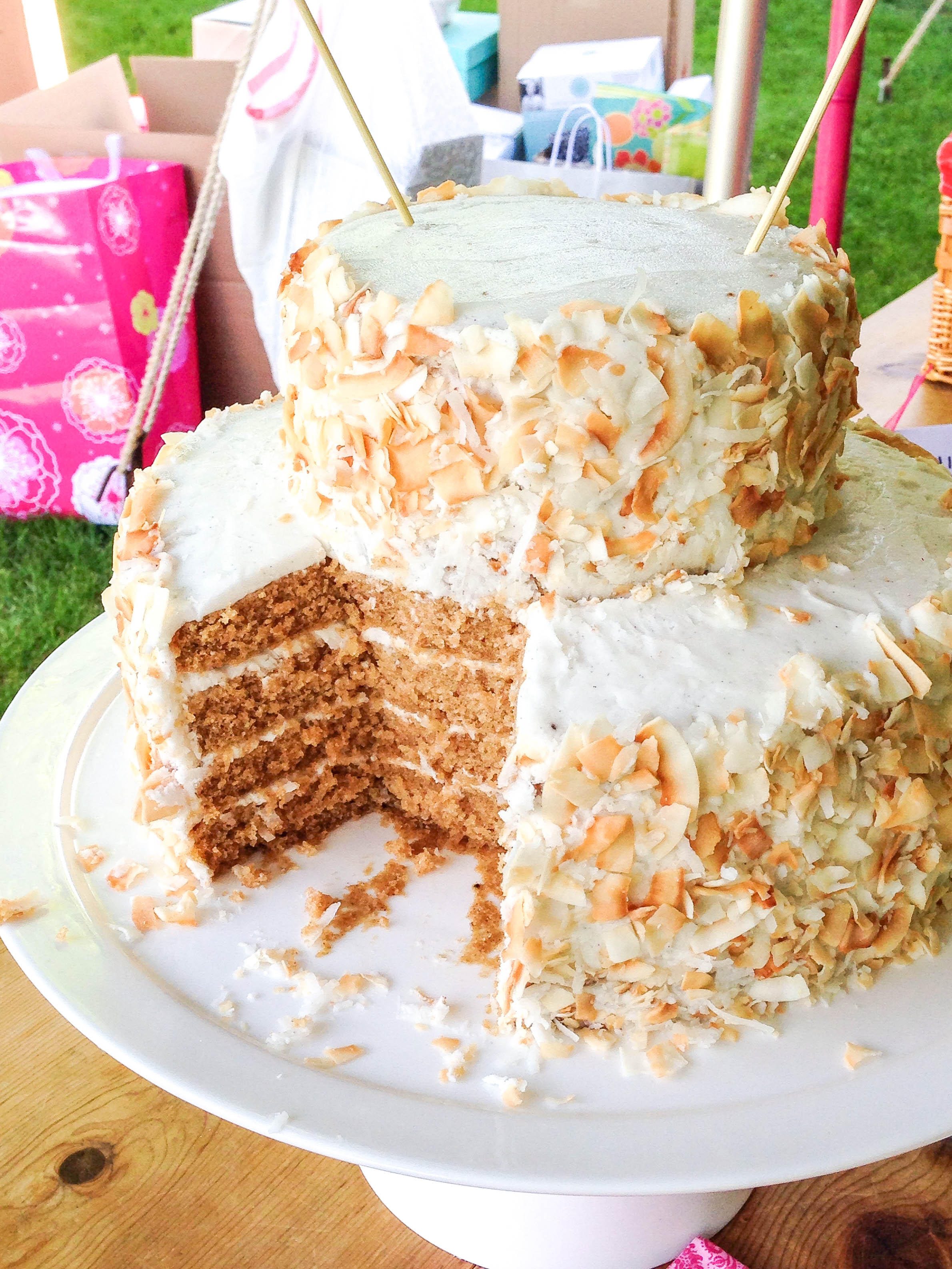 chai tea cake with coconut frosting 4