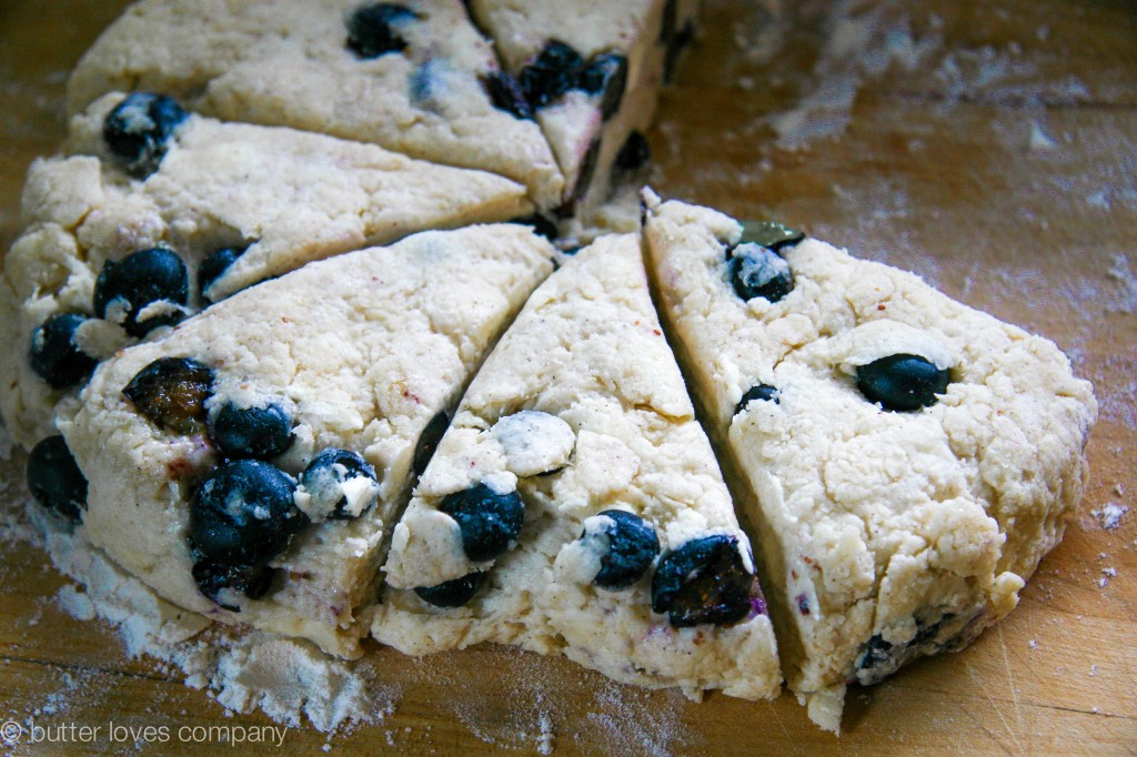 blueberry buttermilk scones with cinnamon sugar butter 1