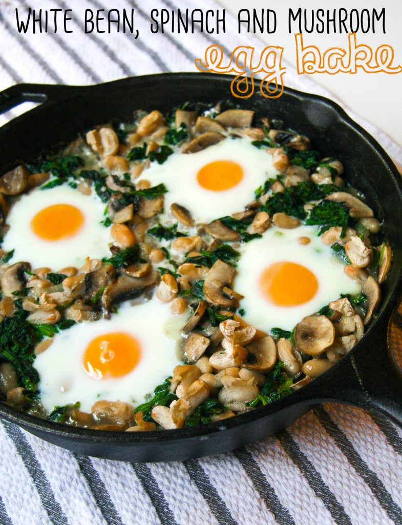 white bean spinach mushroom egg bake 4 copy