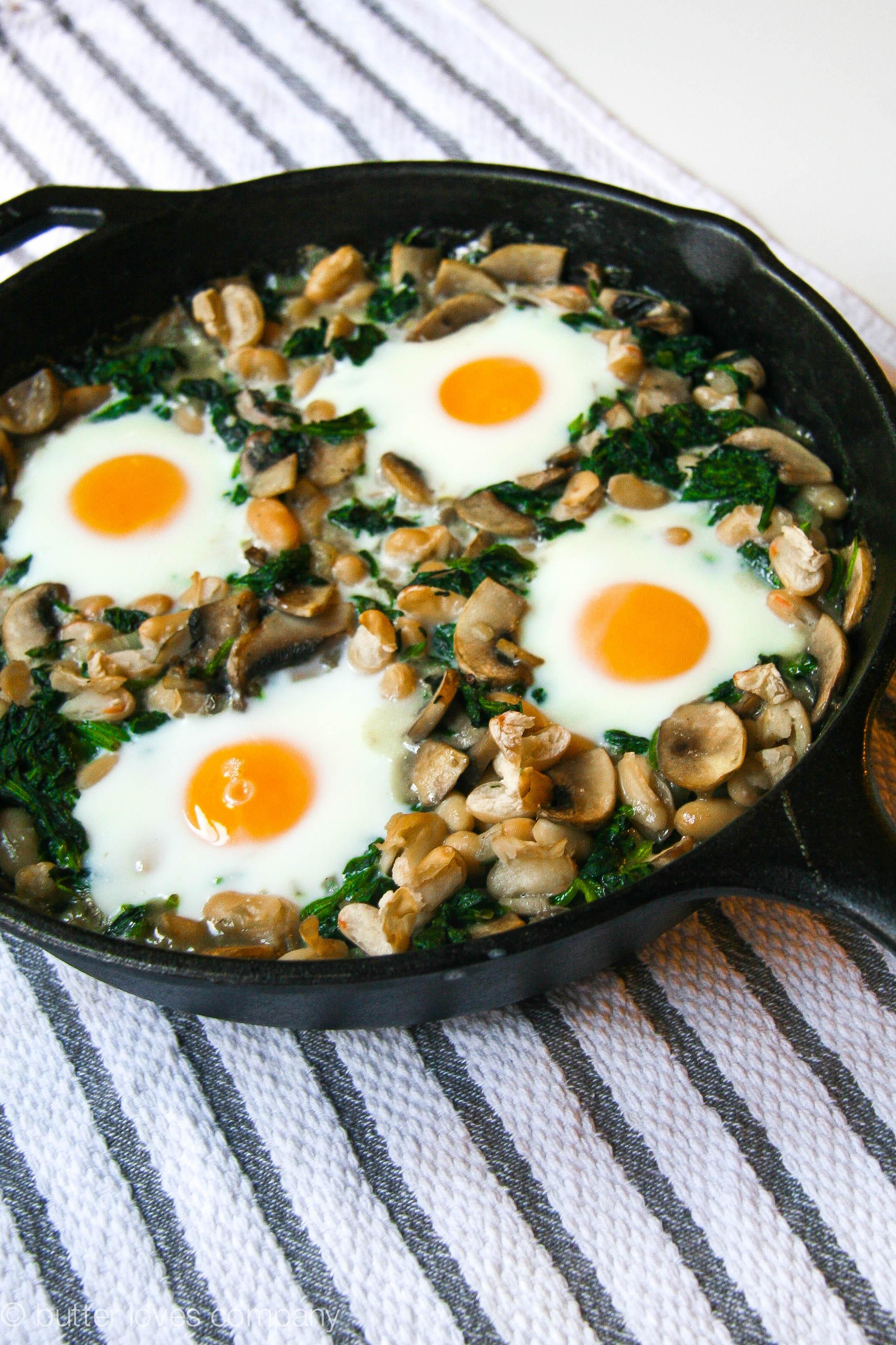 White Bean Spinach And Mushroom Egg Bake Butter Loves
