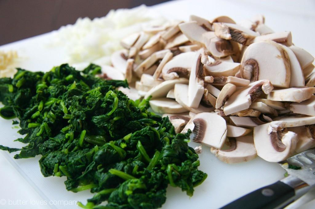 white bean spinach mushroom egg bake 8