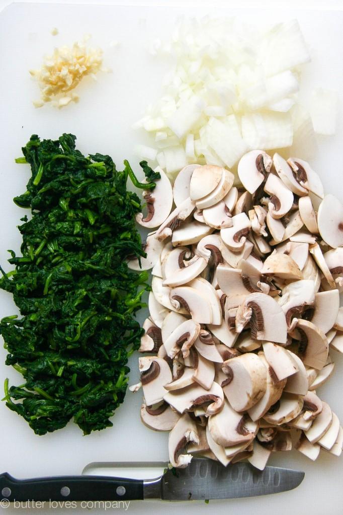 white bean spinach mushroom egg bake 9