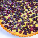 blueberry and lemon cream tart