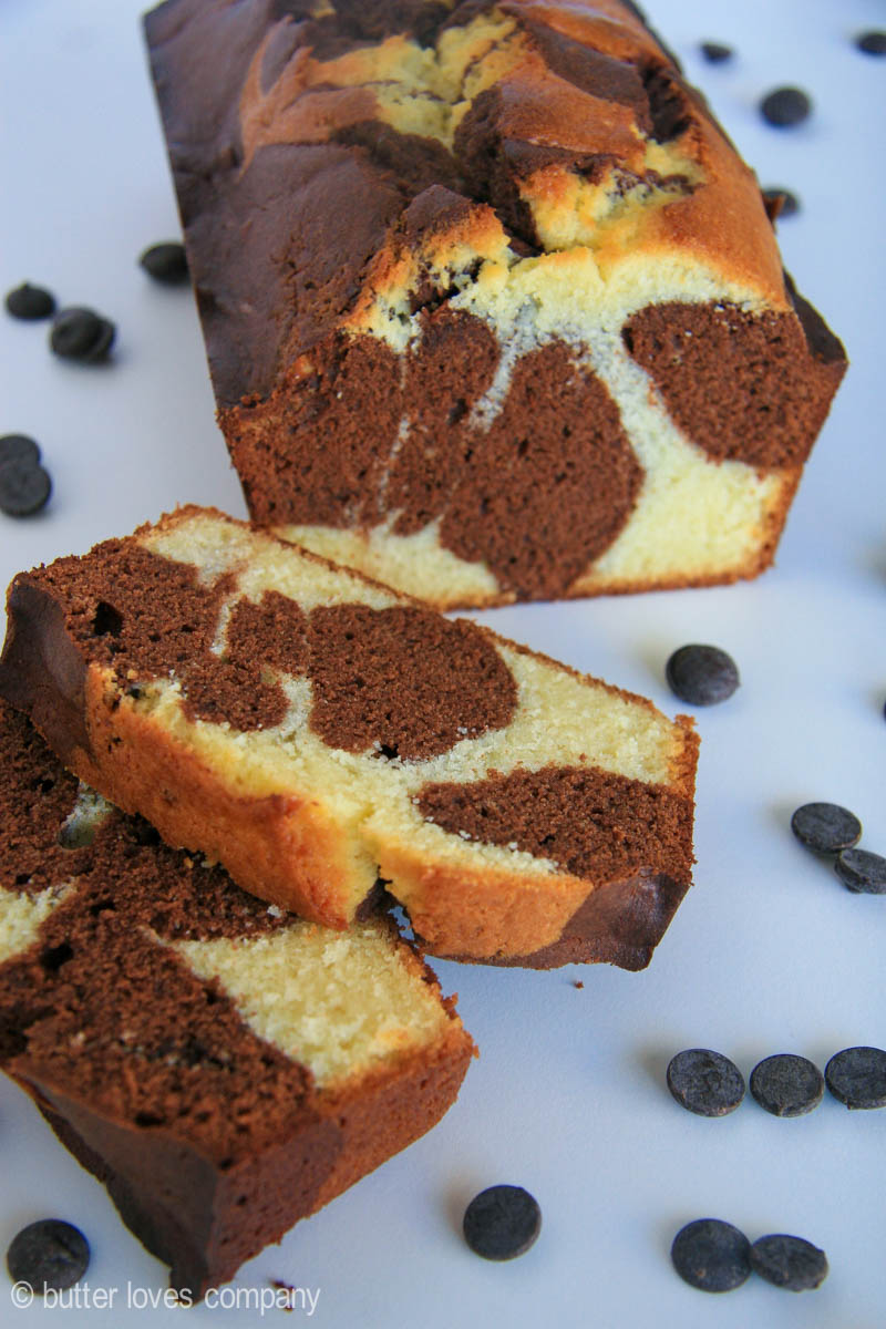 Chocolate Marble Loaf Cake Butter Loves Company