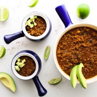 turkey poblano quinoa chili | butter loves company