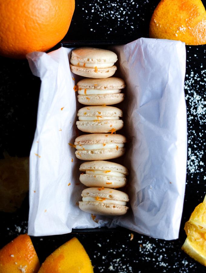 orange macarons - butter loves company